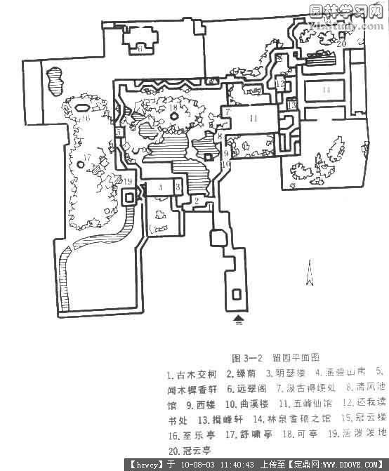 知名古典园林平面图
