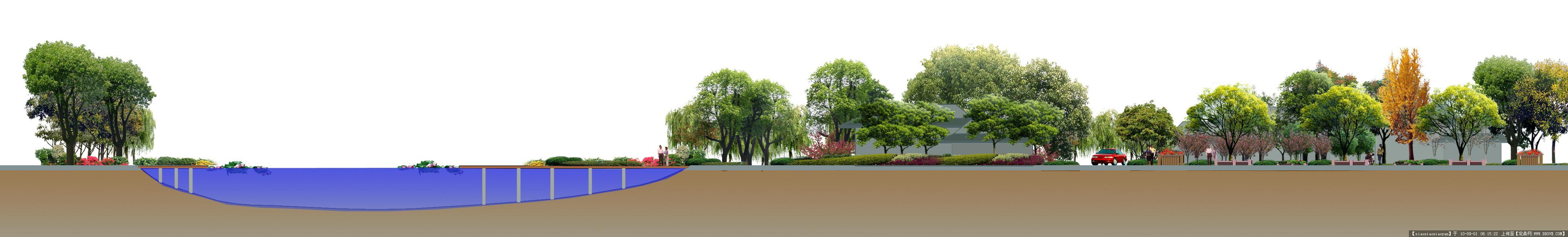公园规划主要立面之--立面图一