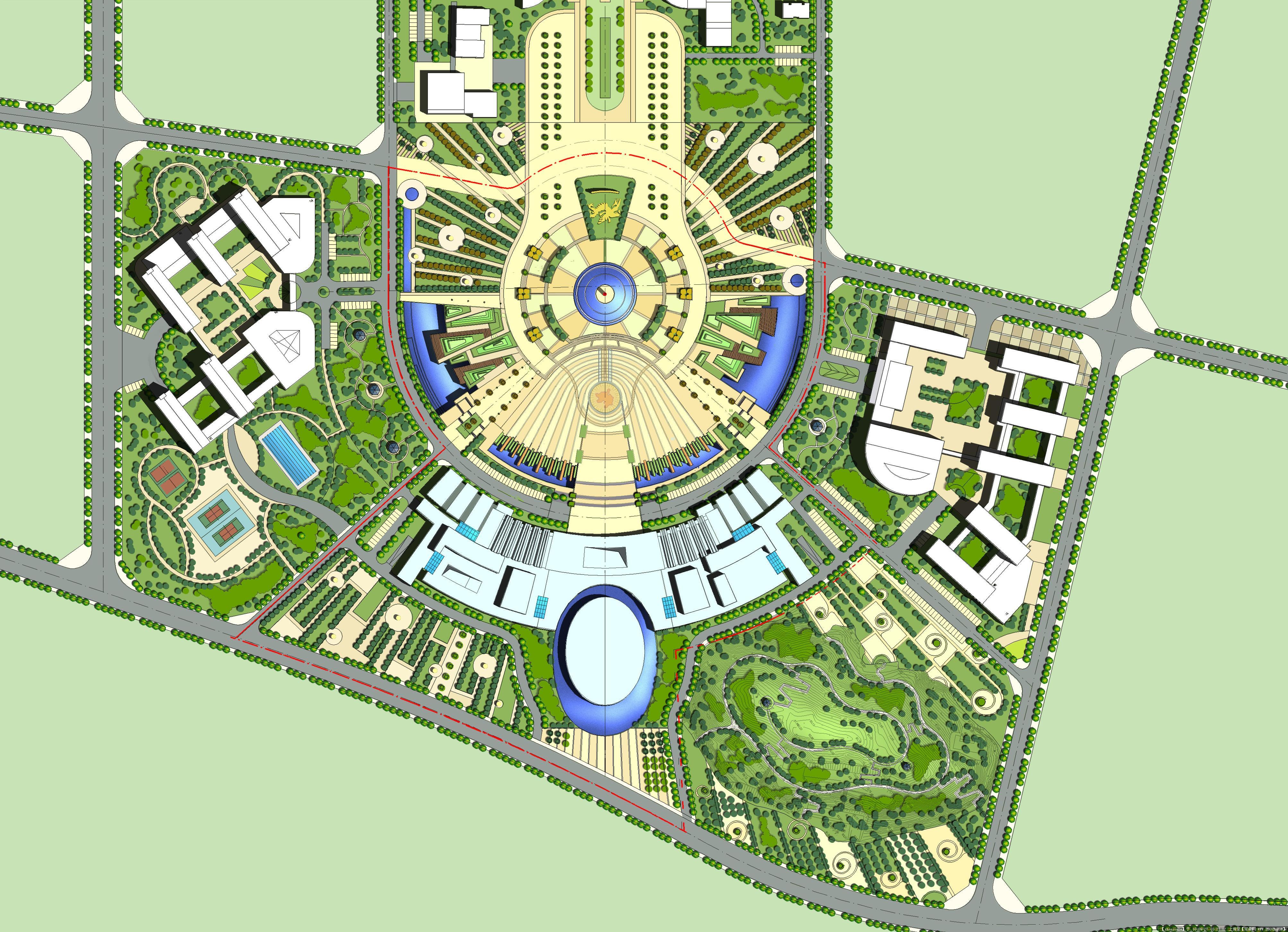 居住区规划平面图 新农村规划平面图 园林规划设计平面图