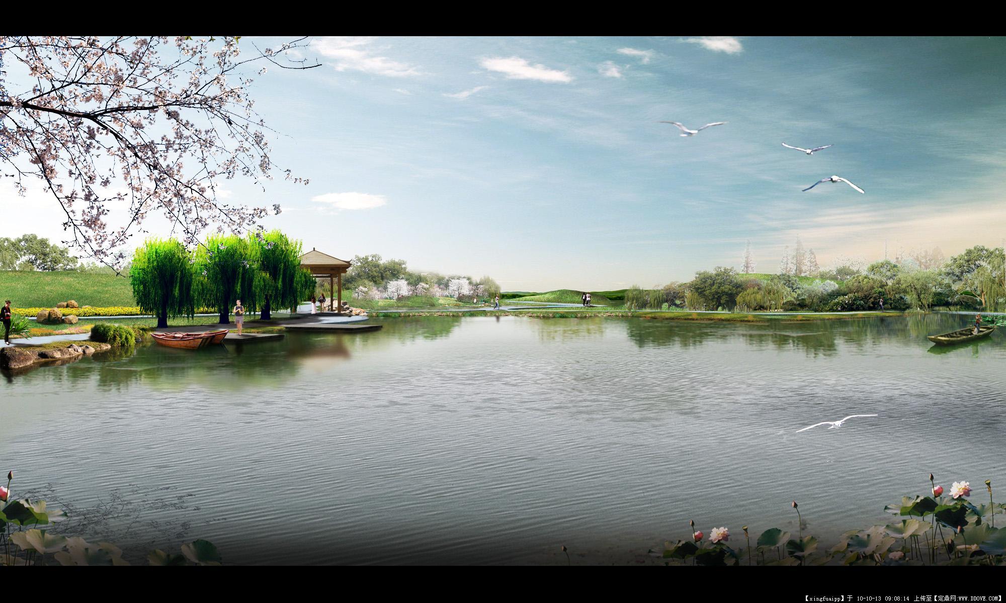 公园水景景观效果