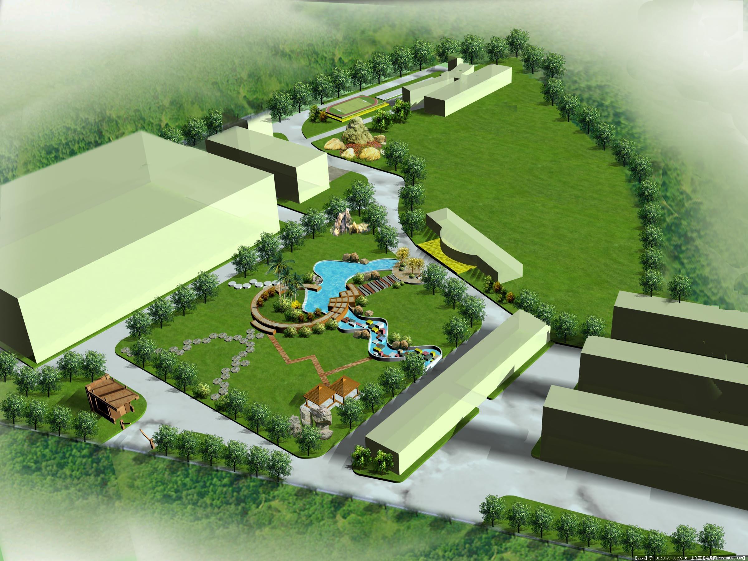 厂区效果图的图片浏览,园林效果图,单位厂区,园林景观