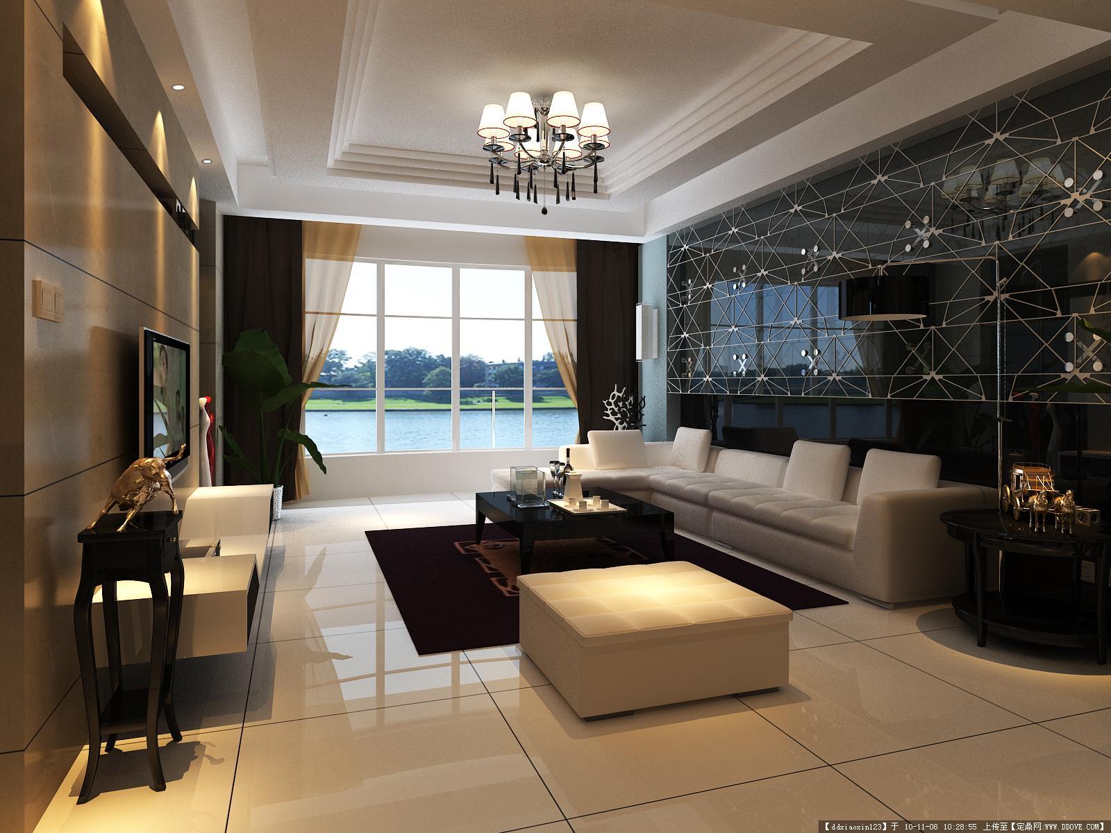 别墅室内效果图设计-4张大图