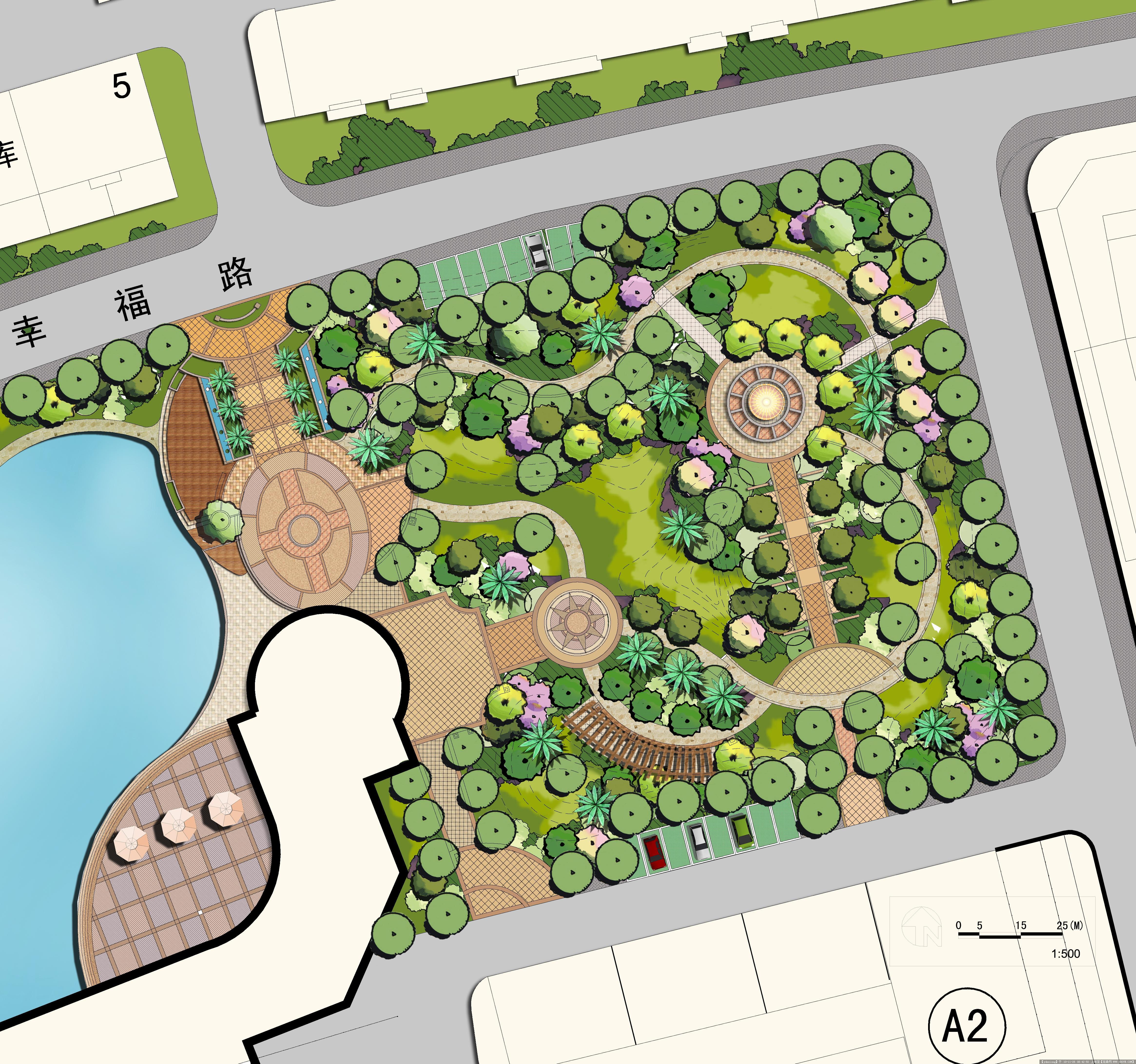 公园景观平面图-景观功能分区有哪些_山体公园景观_公园景观植物配置