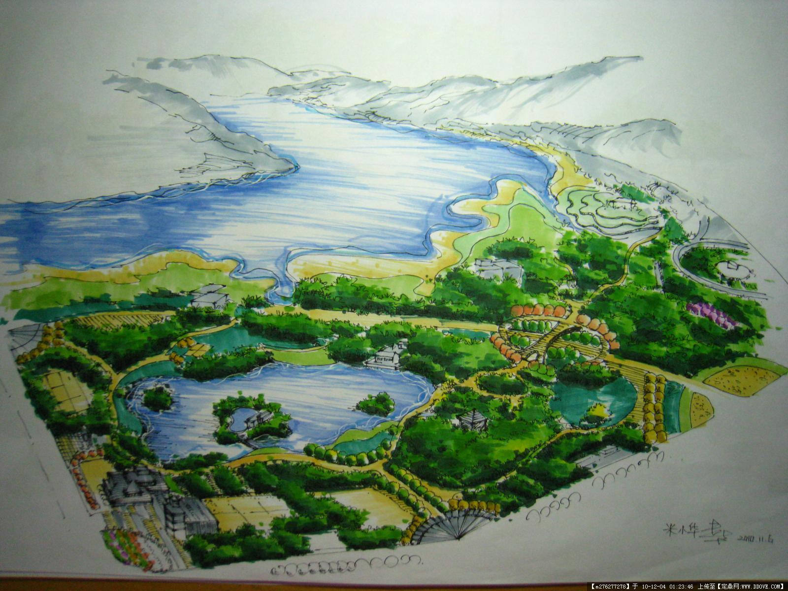 手绘景观节点图