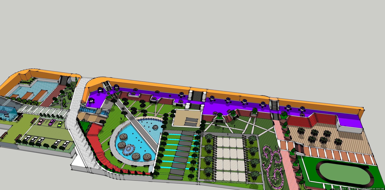 校园广场快题设计图展示
