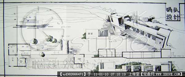 快题-码头设计手绘图一张的图片浏览,建筑方案图纸,,.