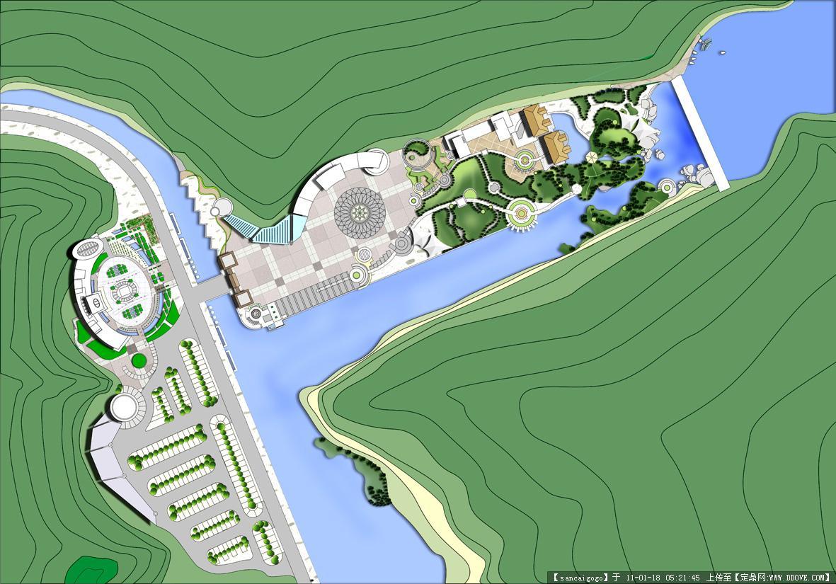 服务区设计方案图的图片浏览,园林方案设计,旅游景区
