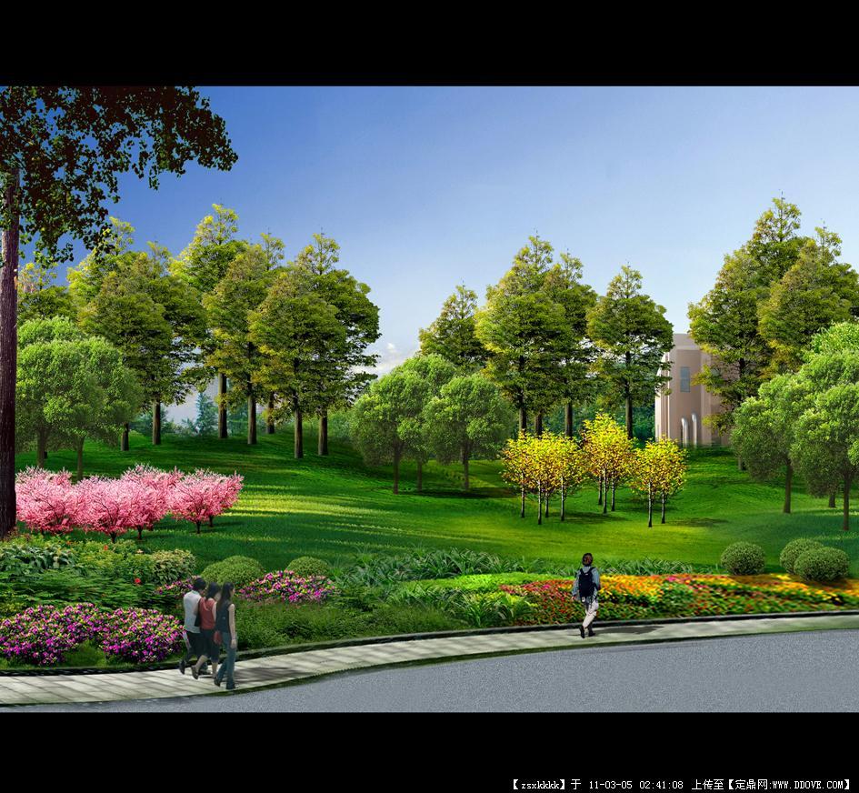 厂区效果图一张-中图的图片浏览,园林效果图,单位厂区