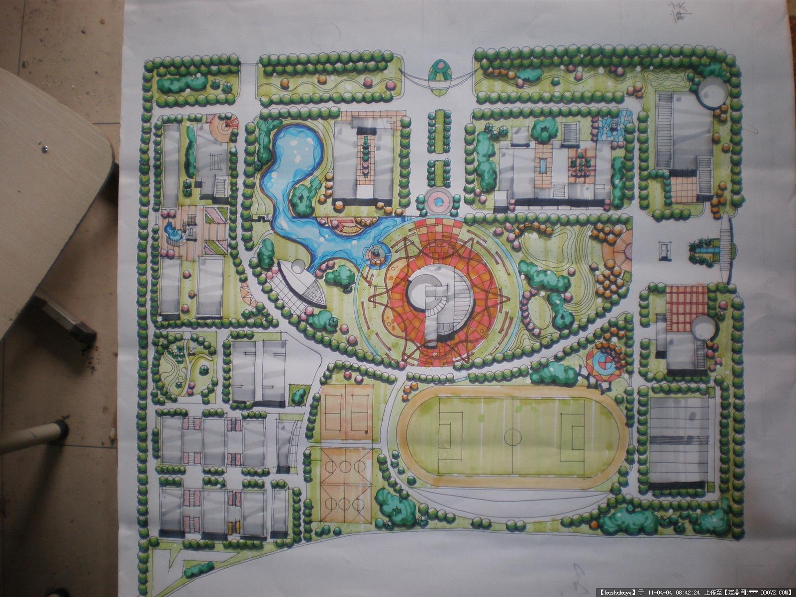 景观毕业设计手绘彩屏图