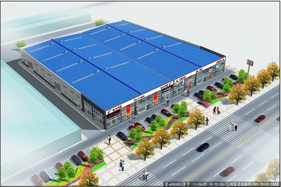泸州等高线制图:钢结构厂房鸟瞰效果图