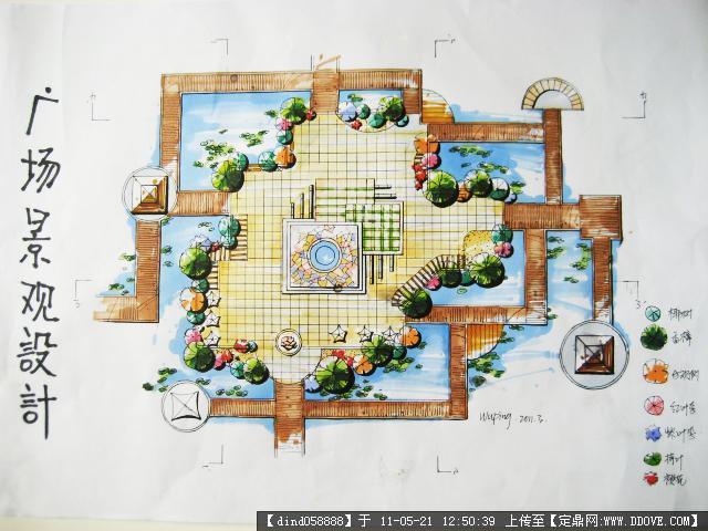 手绘的下载地址,园林效果图,公园景观,园林景观设计施工图纸