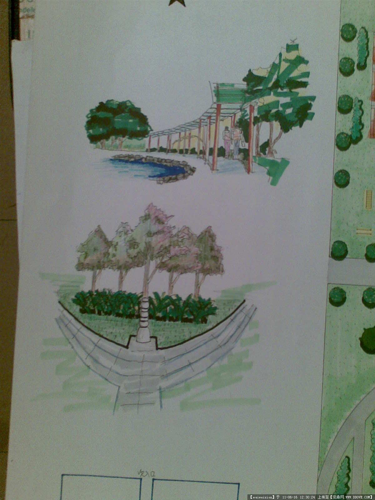广场设计图-手绘方案-大图6张