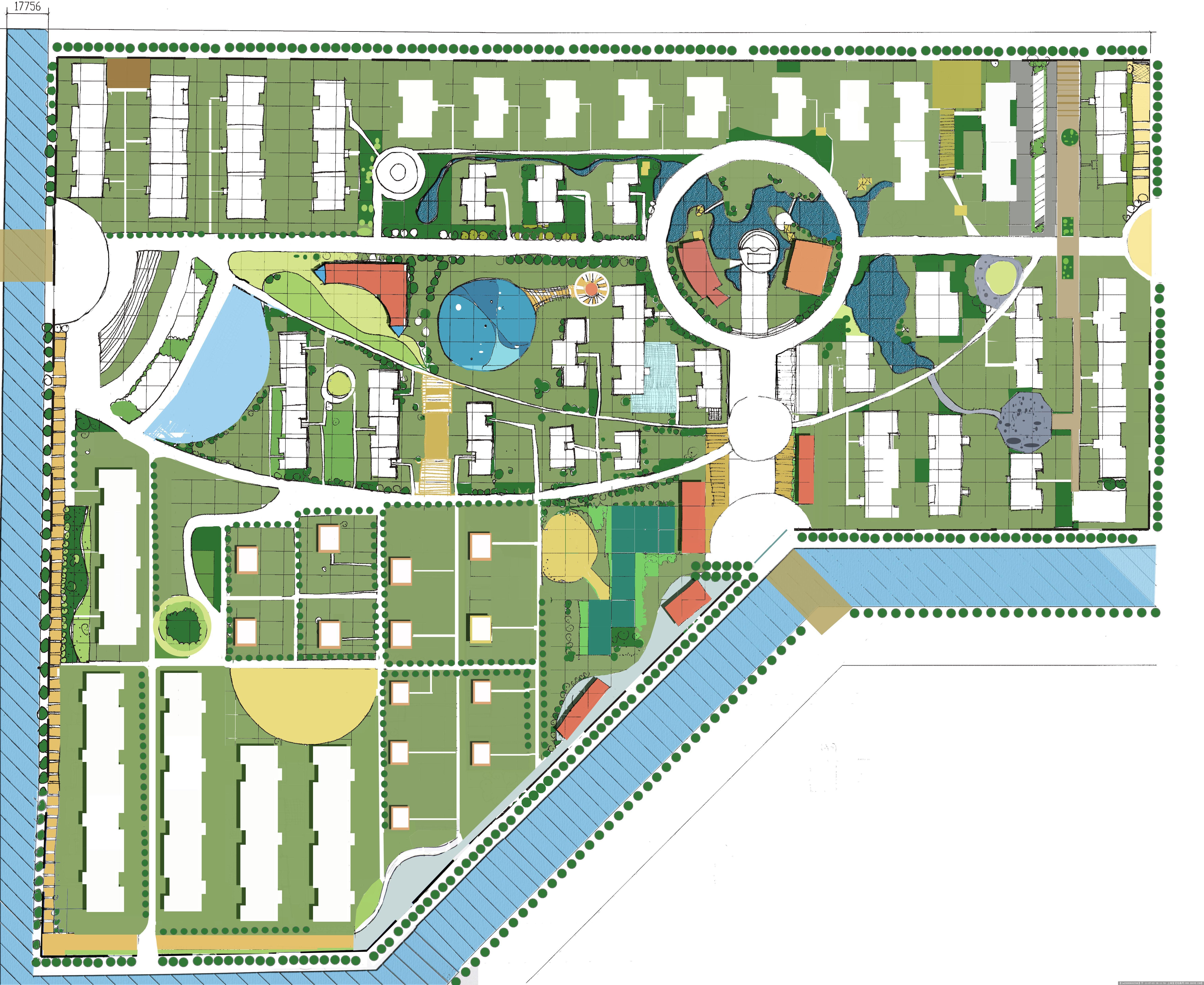 小区 平面效果图的图片浏览,园林效果图,居 区,园林景观设计