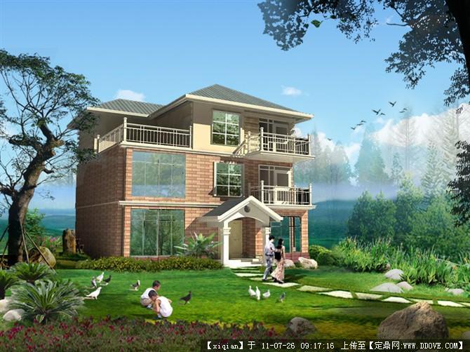 ps的别墅效果图的图片浏览,建筑效果图,居住建筑效果